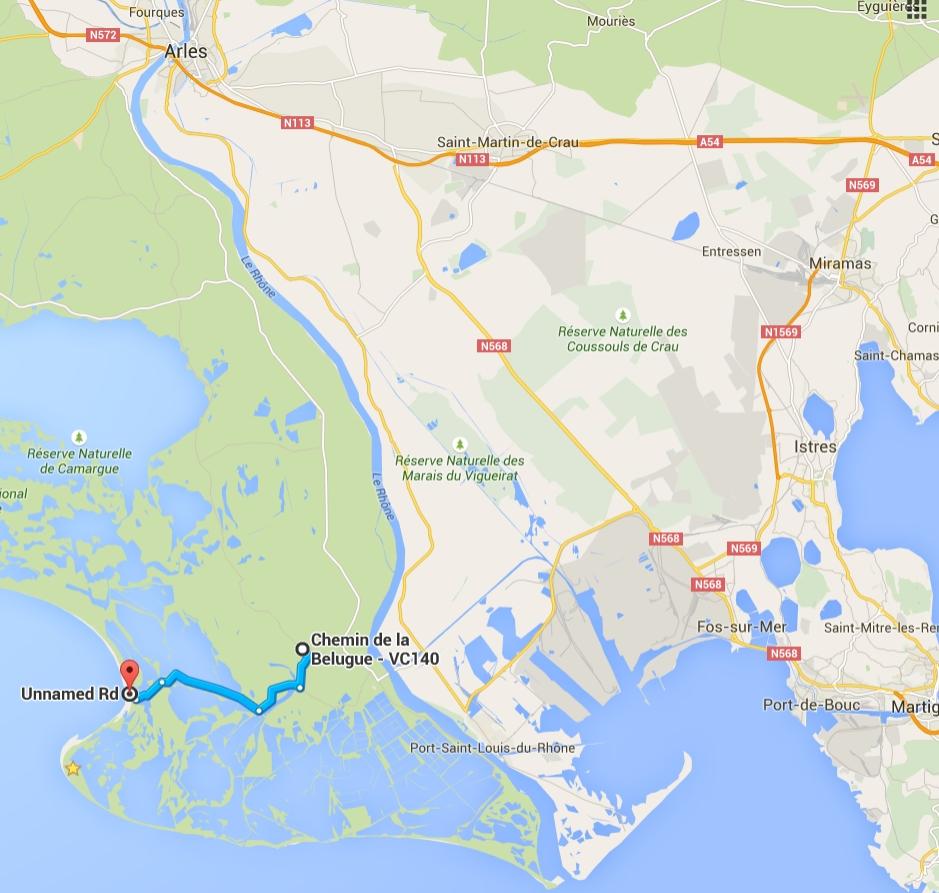 Camargue Karte.Wilder Stellplatz Beauduc Camargue Frankreich Caliboard De