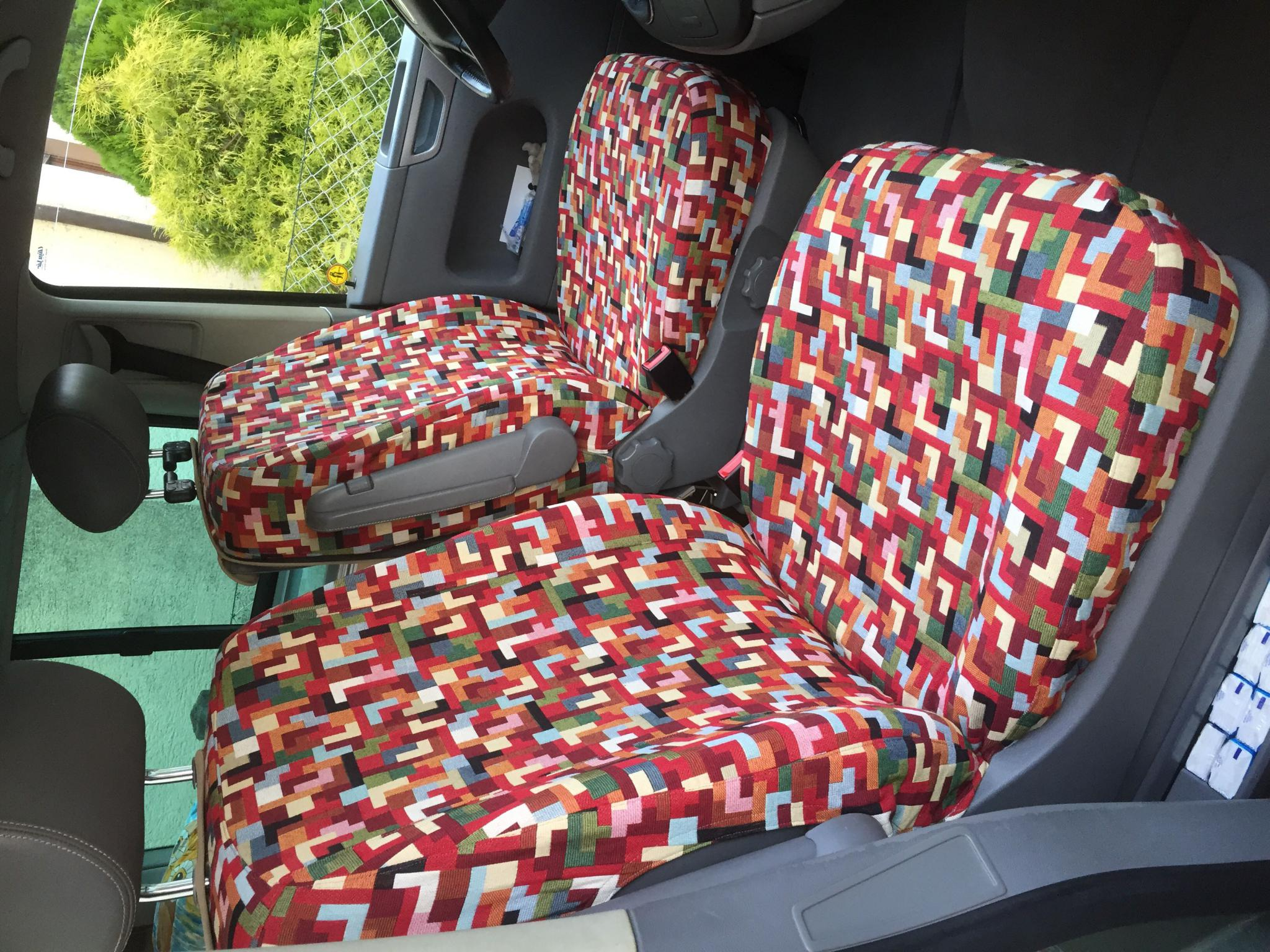 Sitzbezüge für Cali selbst genäht - VW California Zubehör ...