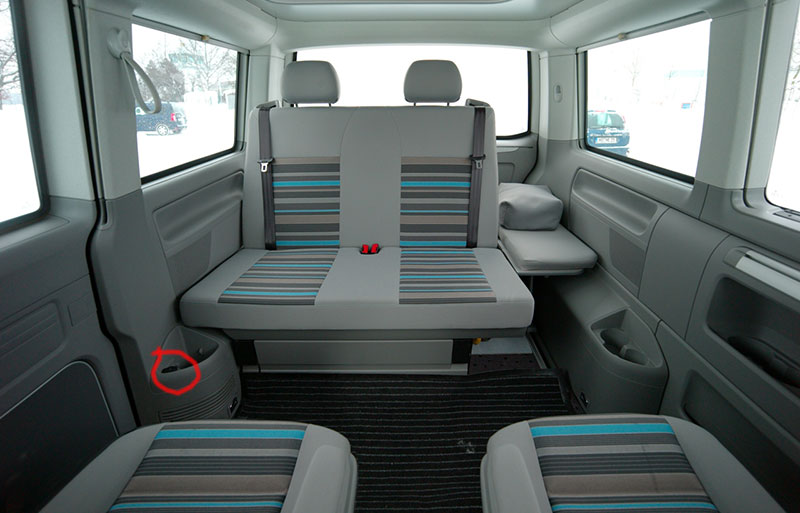 12 volt steckdosen im t6 beach vw california elektrik. Black Bedroom Furniture Sets. Home Design Ideas