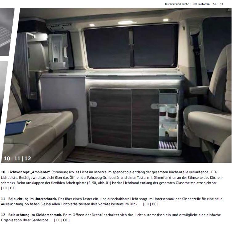 Lichtkonzept vom T6 nachrüstbar im T5.2? - VW California Möbel und ...