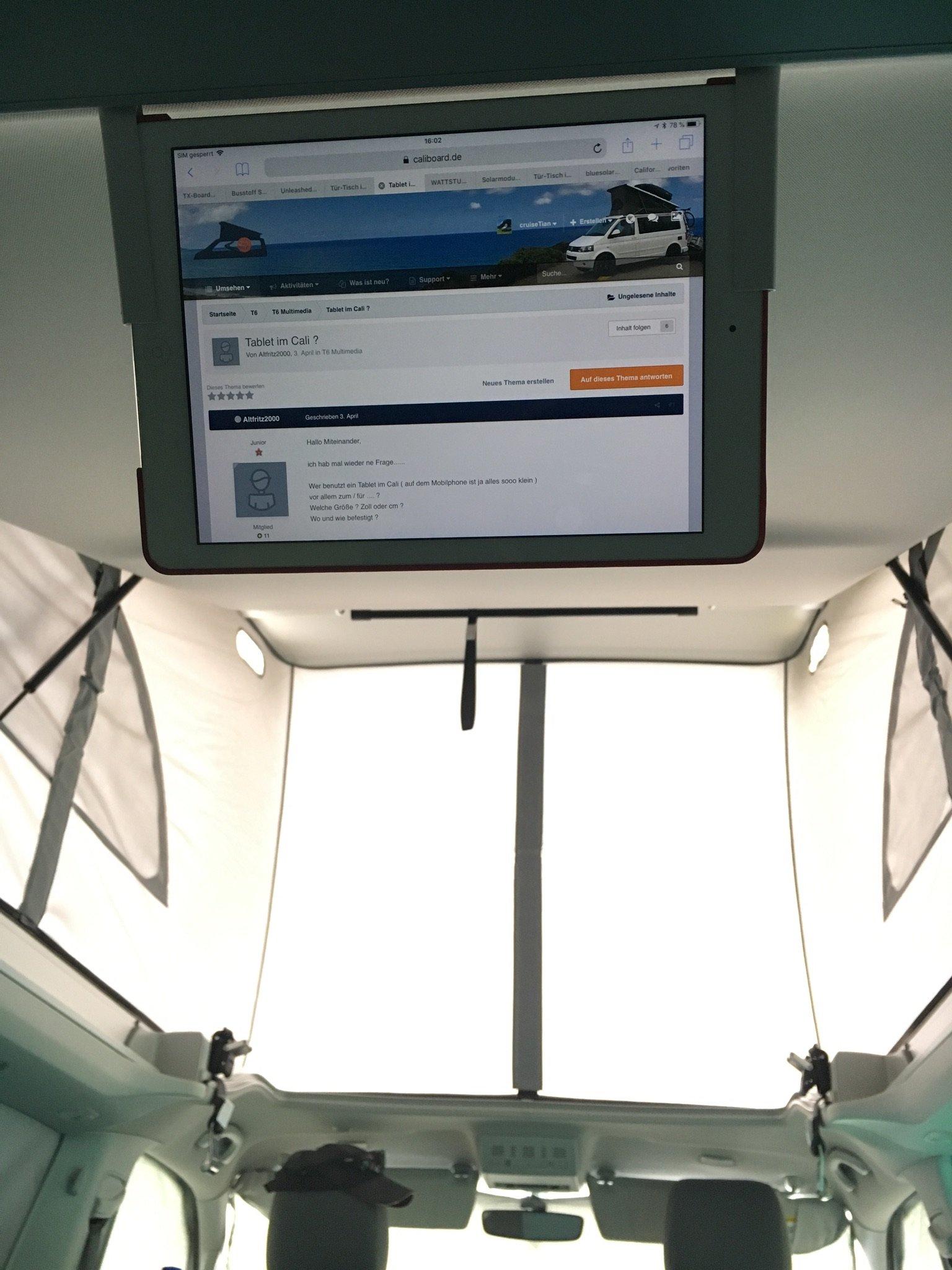 tablet im cali t6 multimedia die vw. Black Bedroom Furniture Sets. Home Design Ideas