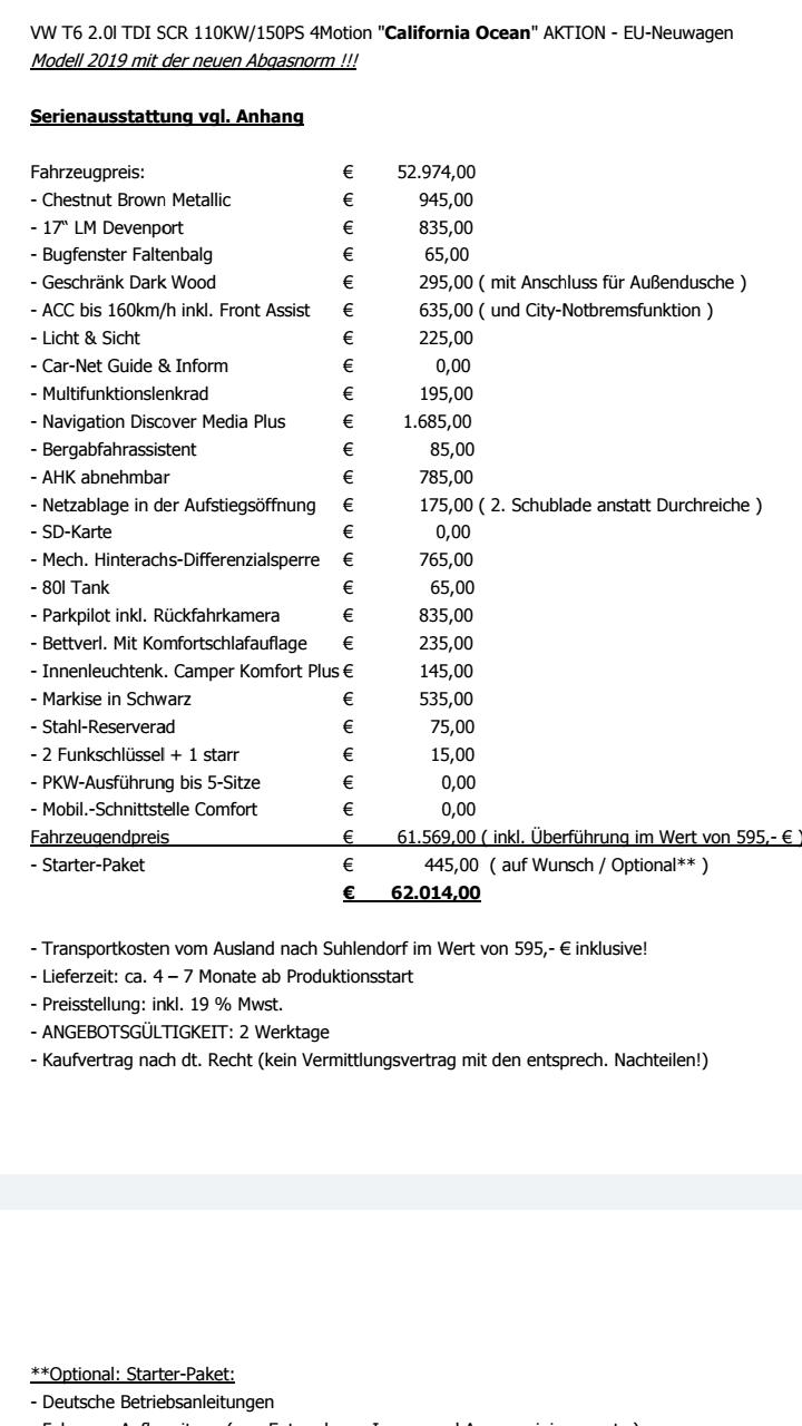 Vw T6 Eu Fahrzeug Konretes Angebot T6 Diskussionen Infos Und